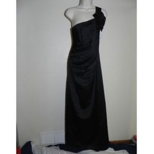 Davids Bridal Dress Size 2 Black Full Length NWT